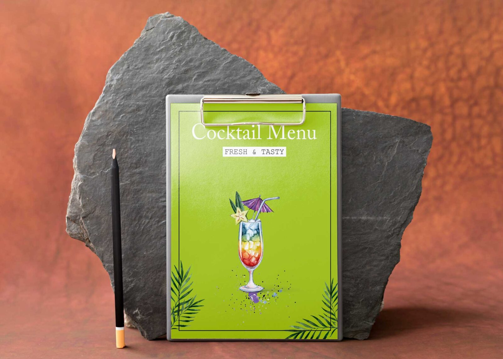 Summer Cocktail Drinks Menu Design
