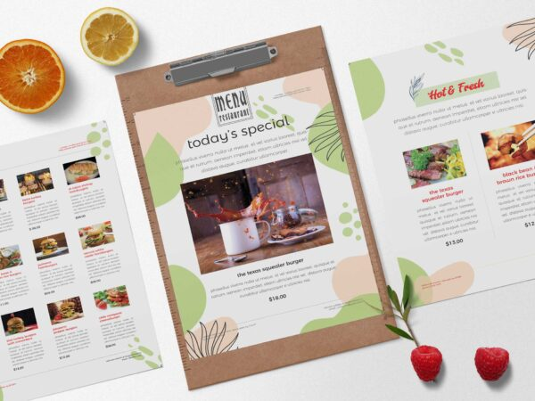 Fast Food Burger Menu PSD Design