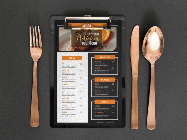 Chocolate Gingerbread Menu Design Template