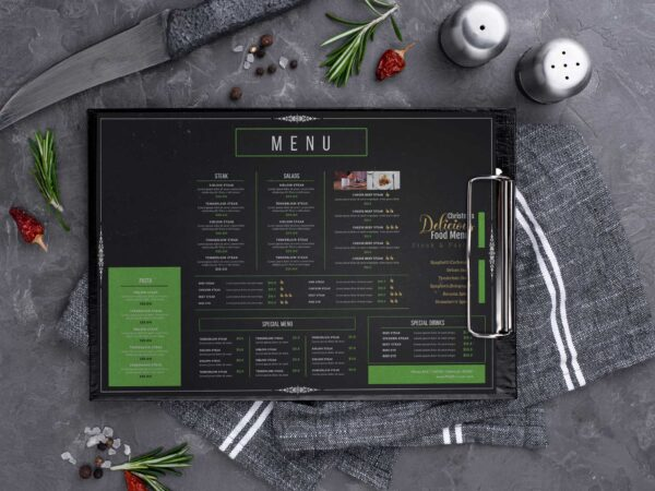 Christmas Delicacies Food Menu Design Template