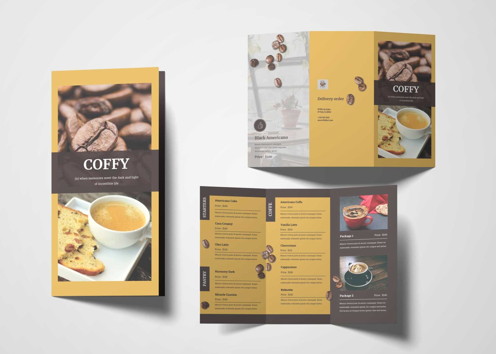Coffee Cake Menu Design
