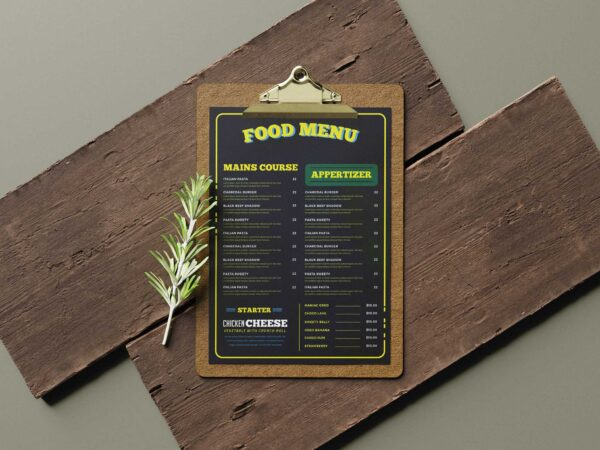 Food Side Menu Design Template