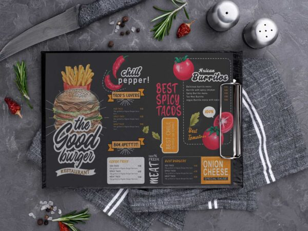 Best Offer Burger Menu Design Template
