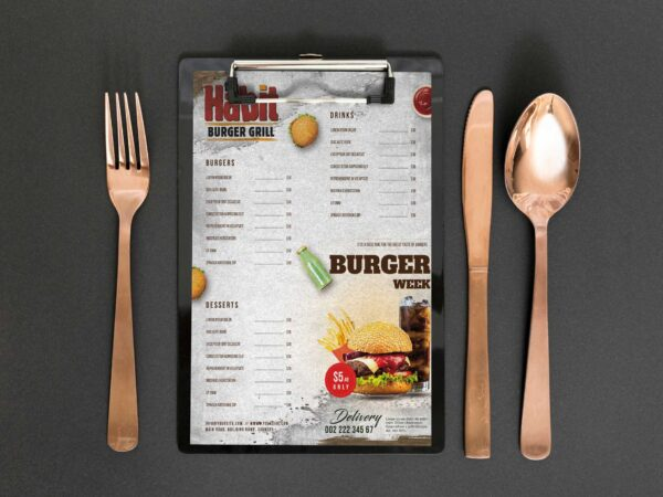 Burger Grill Menu Design Template