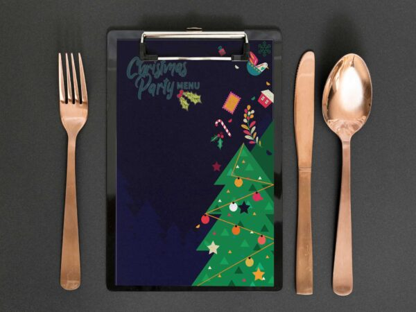 Christmas Party Food Menu Design Template