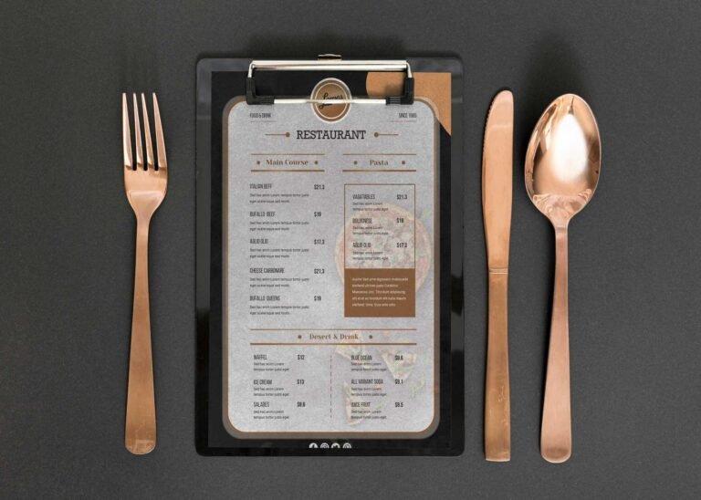 Cool Cafe Short Menu Design Template