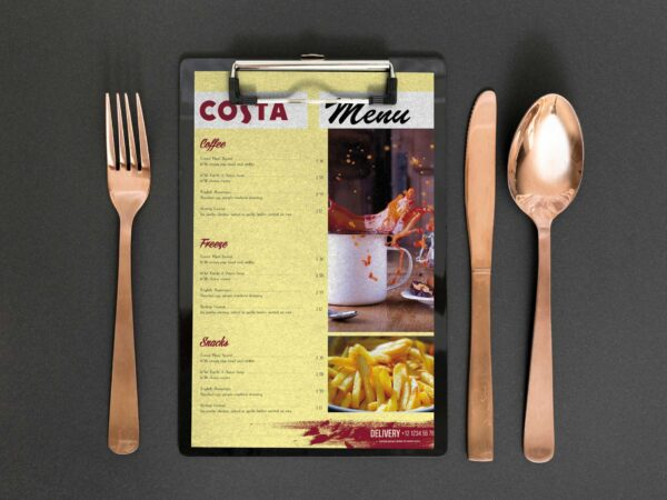 Costa Cafe Menu Design Template