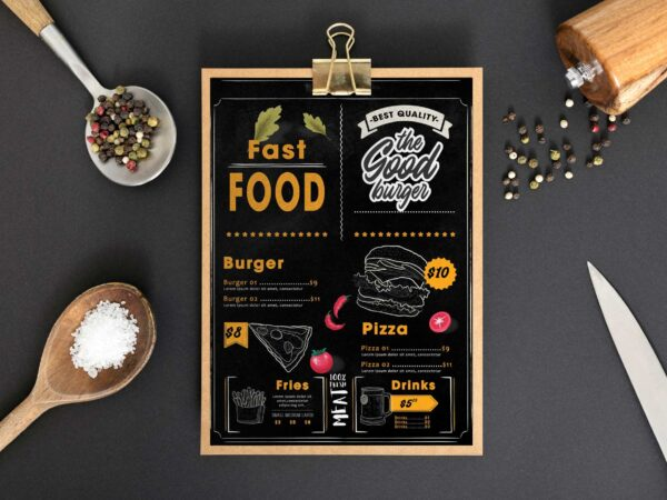 Fast Food Restaurant Menu Design Template