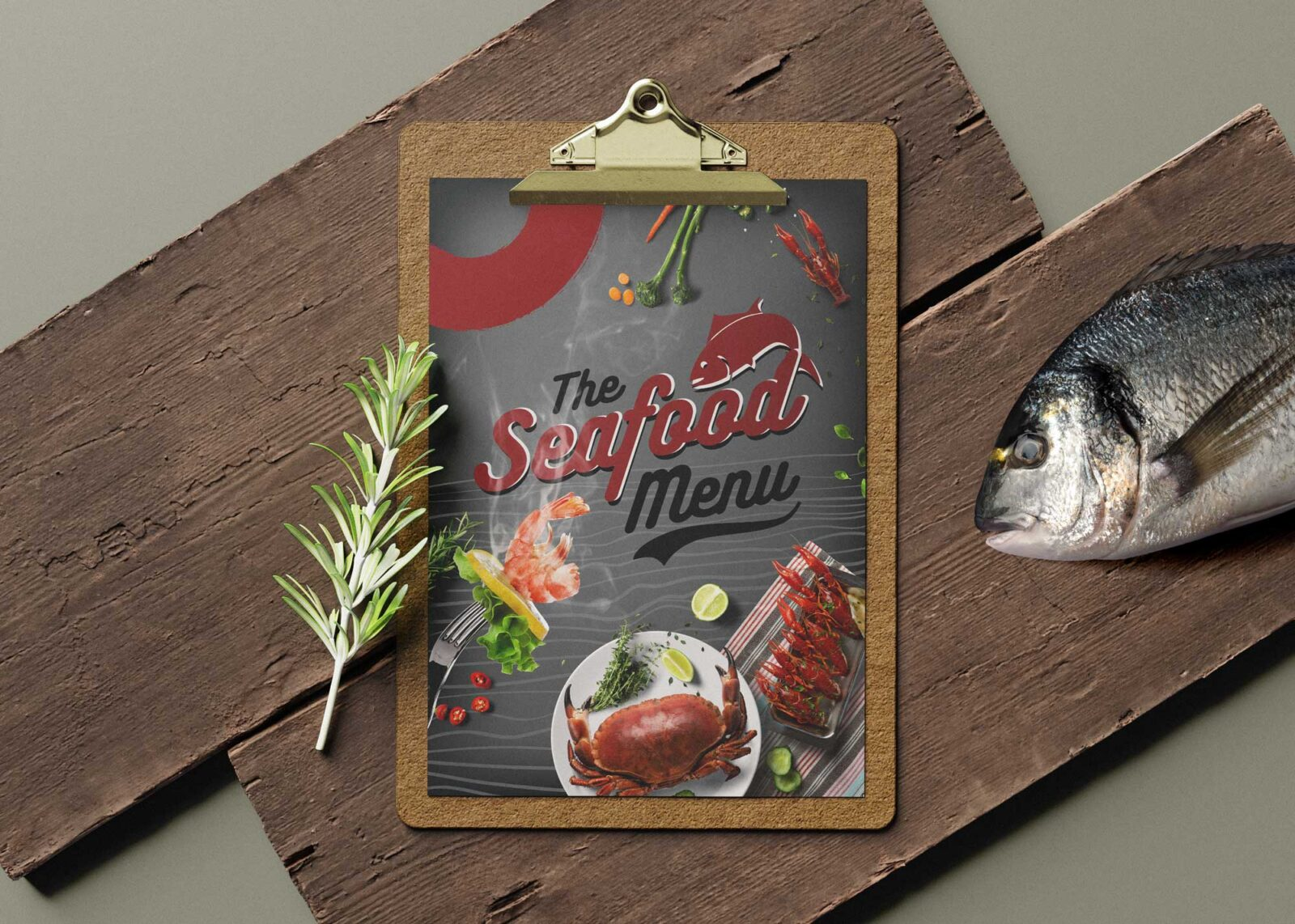 Seafood Restaurant Menu Design Templates
