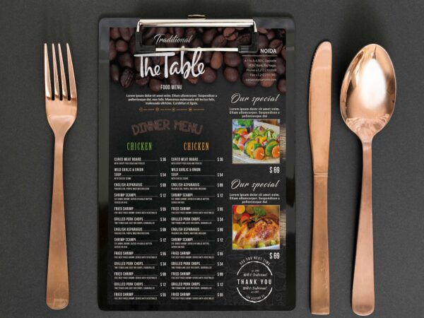 Indian Cafe Menu Design Template