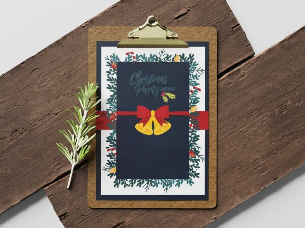 Merry Christmas Design Menu Template