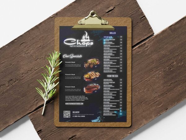 Non Veg Hotel Menu Design Template