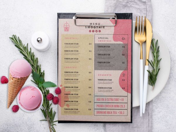 Smoothie Menu Design Template
