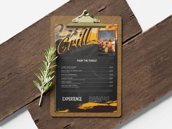 Spice Grill Menu Design Template