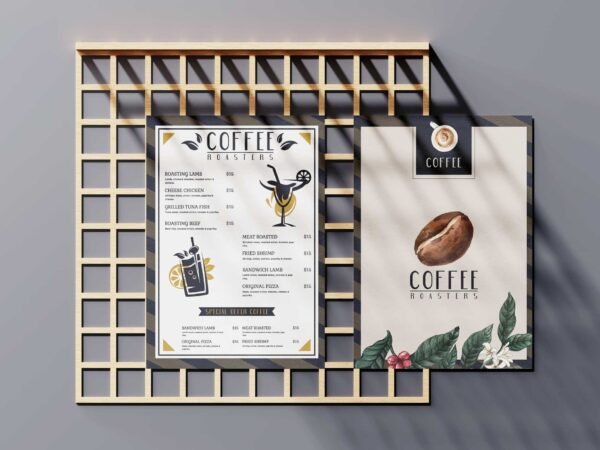 Coffee Roasters Menu Design Templates