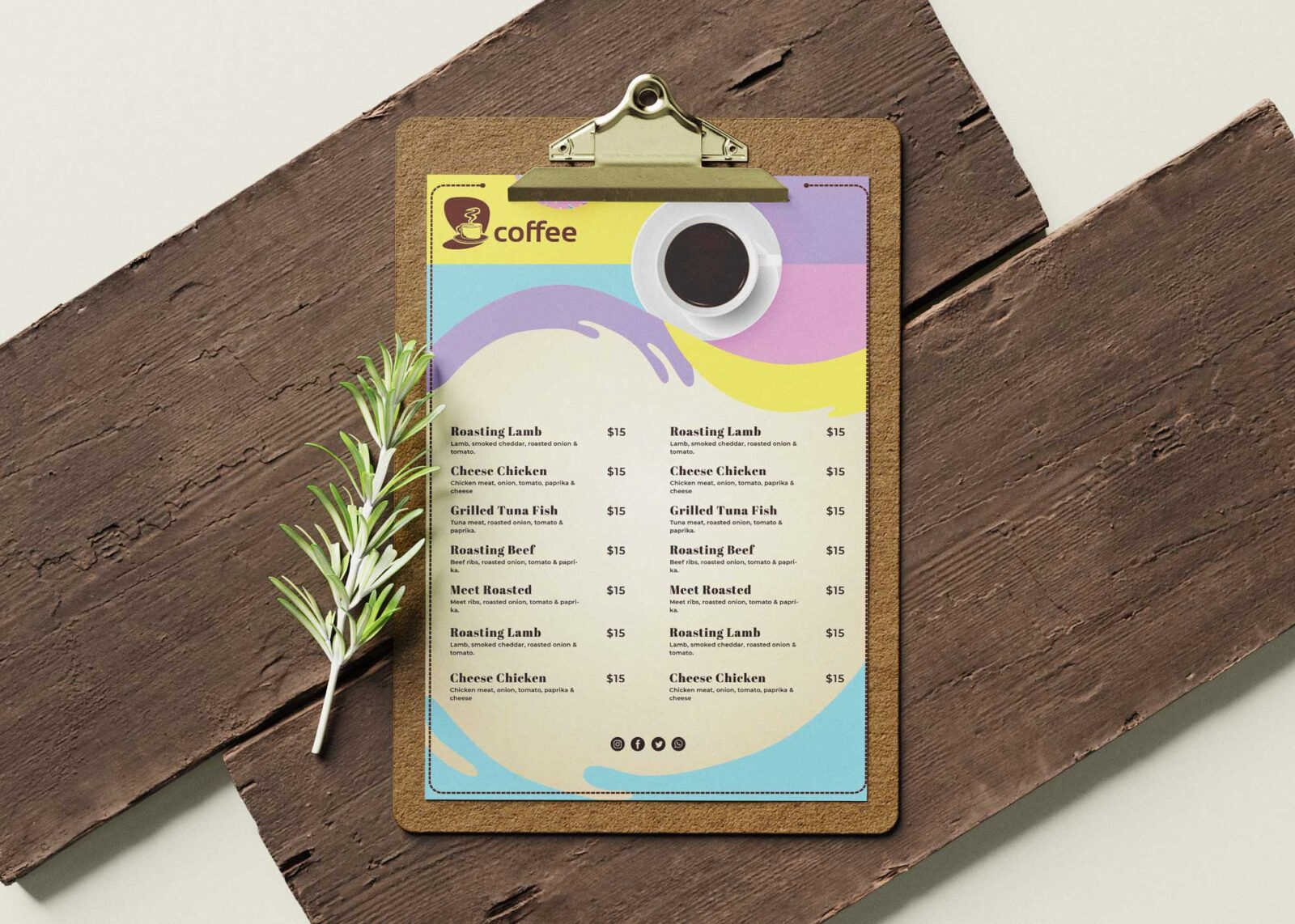 Coffee Shops Menu Design Templates