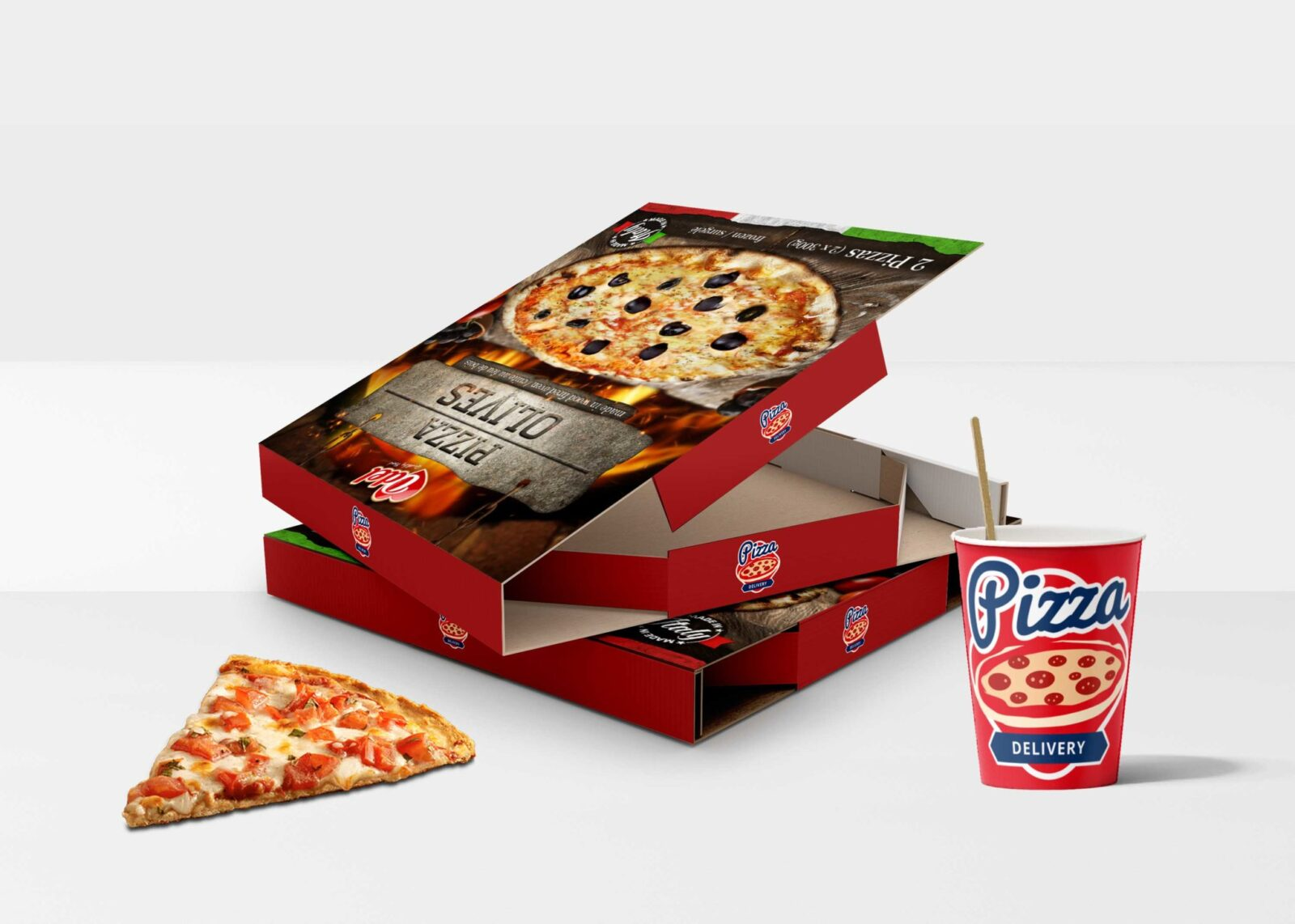 Square Pizza Box Mockup