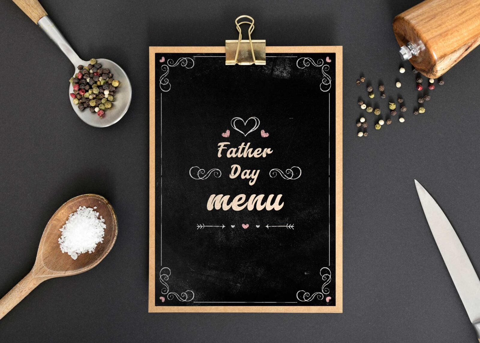Father Day Menu Design Templates