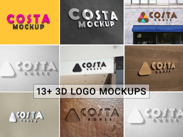 Costa Logo Mockup Collection