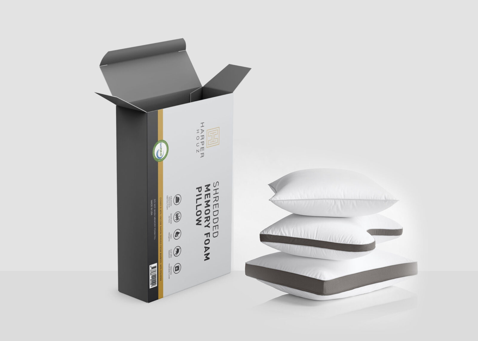 Soft Pillow Packaging Mockup