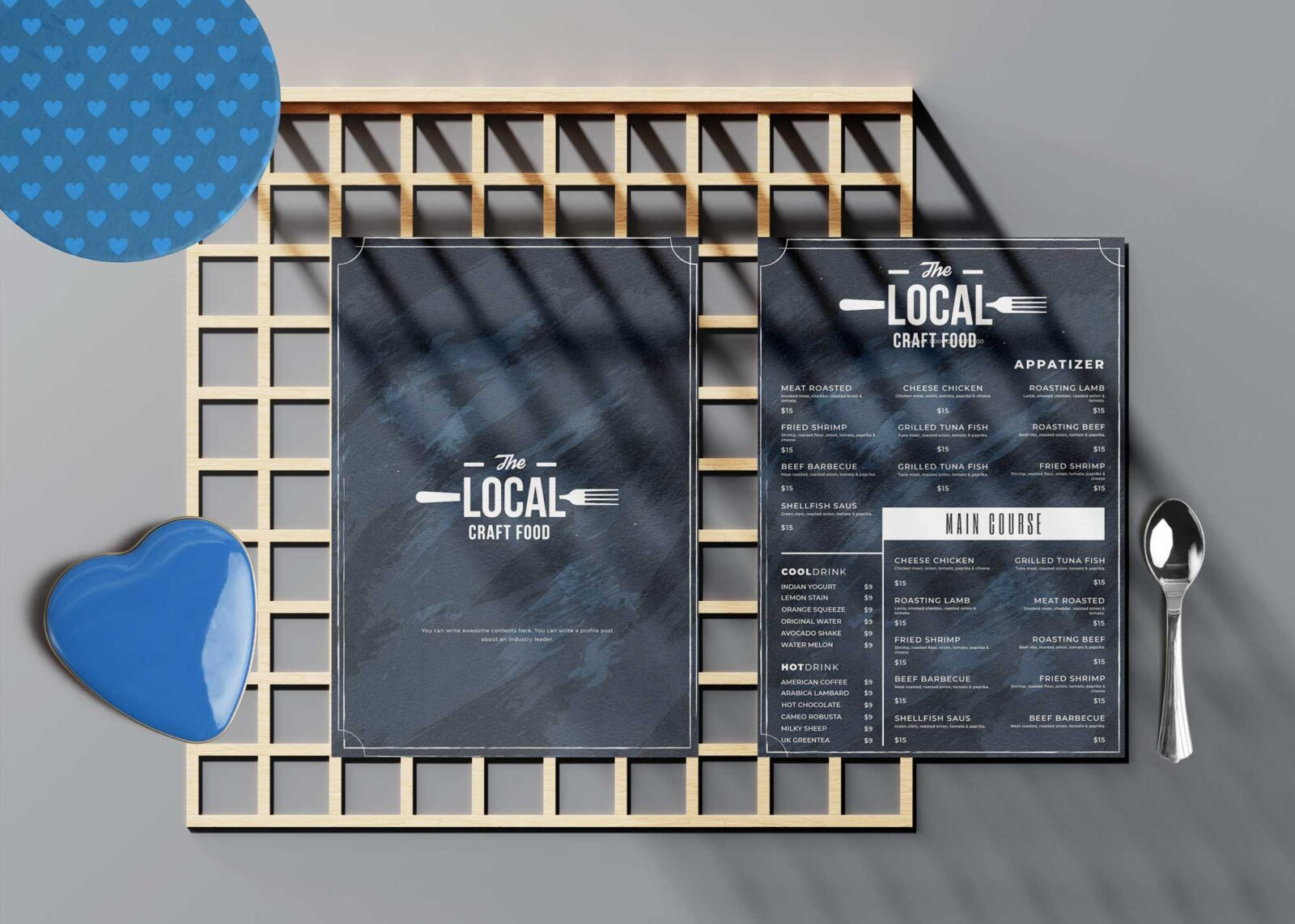 Local Food Menu Design Template