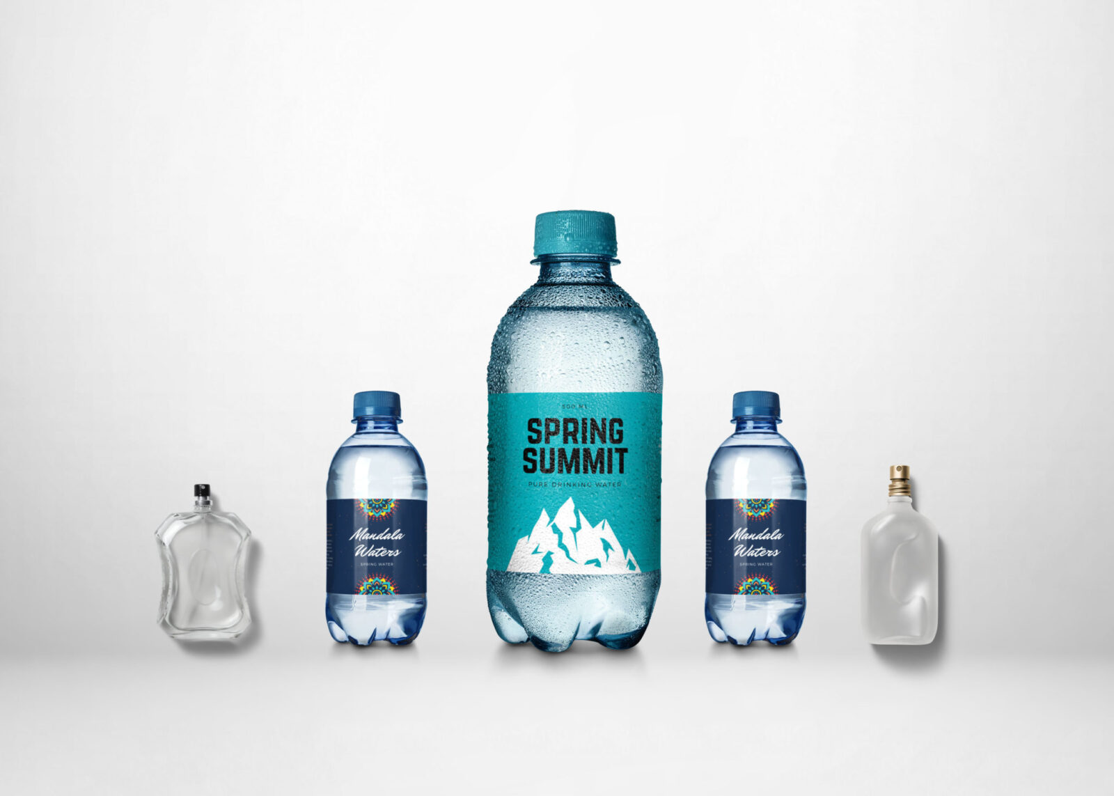 Small Mineral Water Bottle Label Mockup