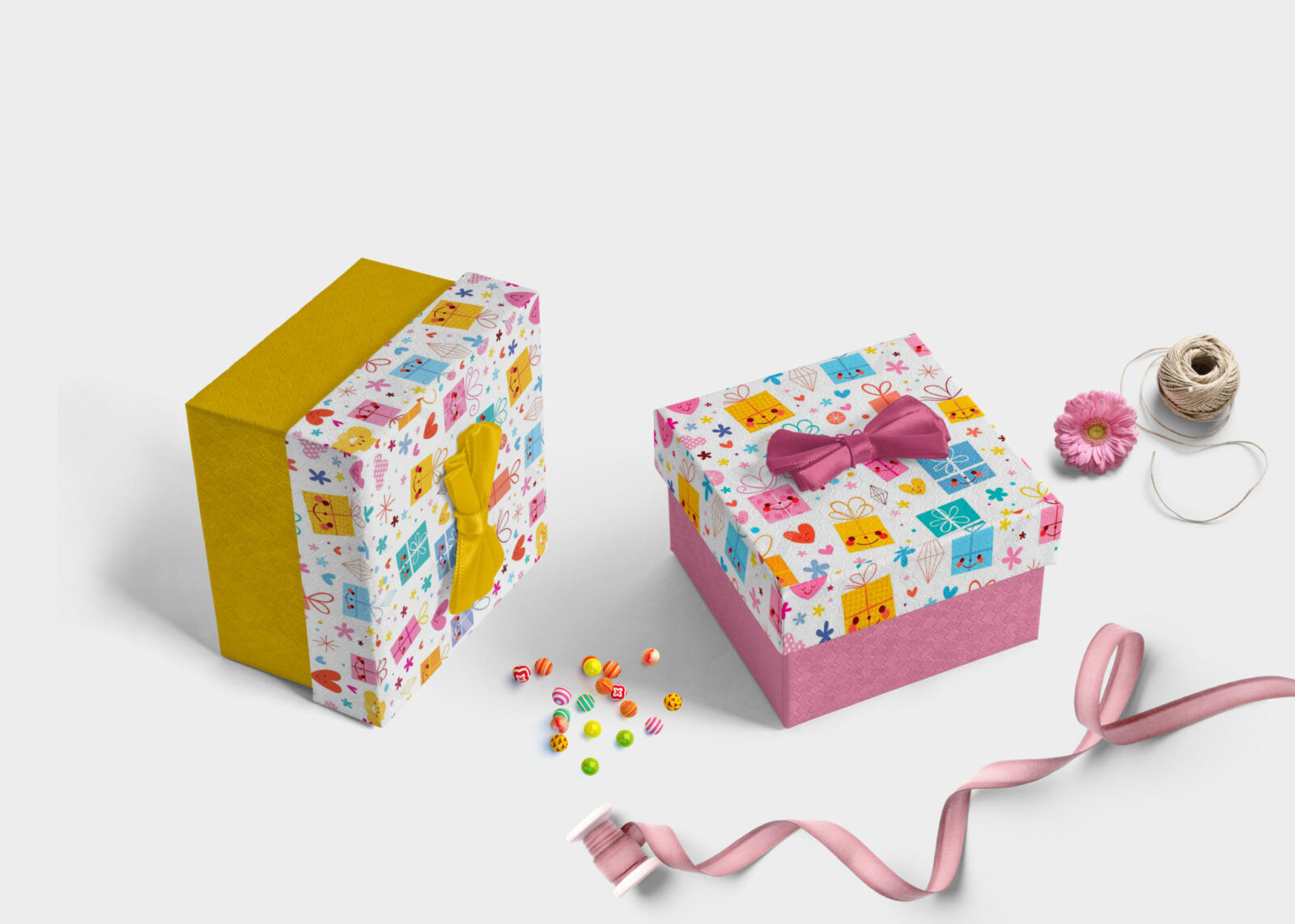 Awesome Gift Box Packaging Mockup