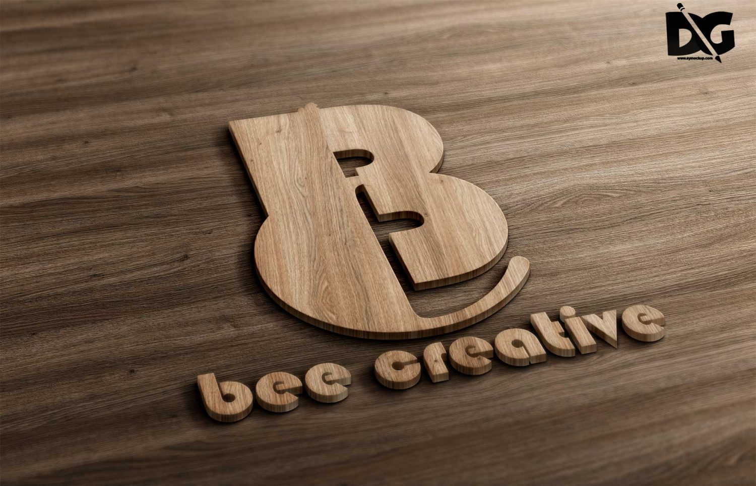Wooden Touch Logo Mockup