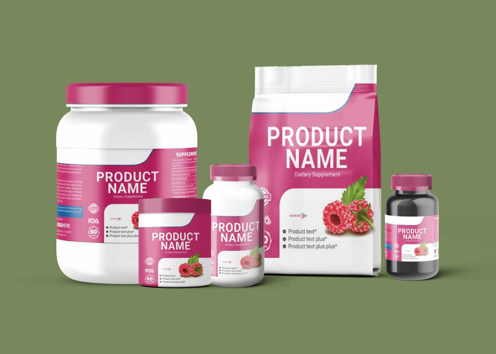 Gym Supplement Product Mockup