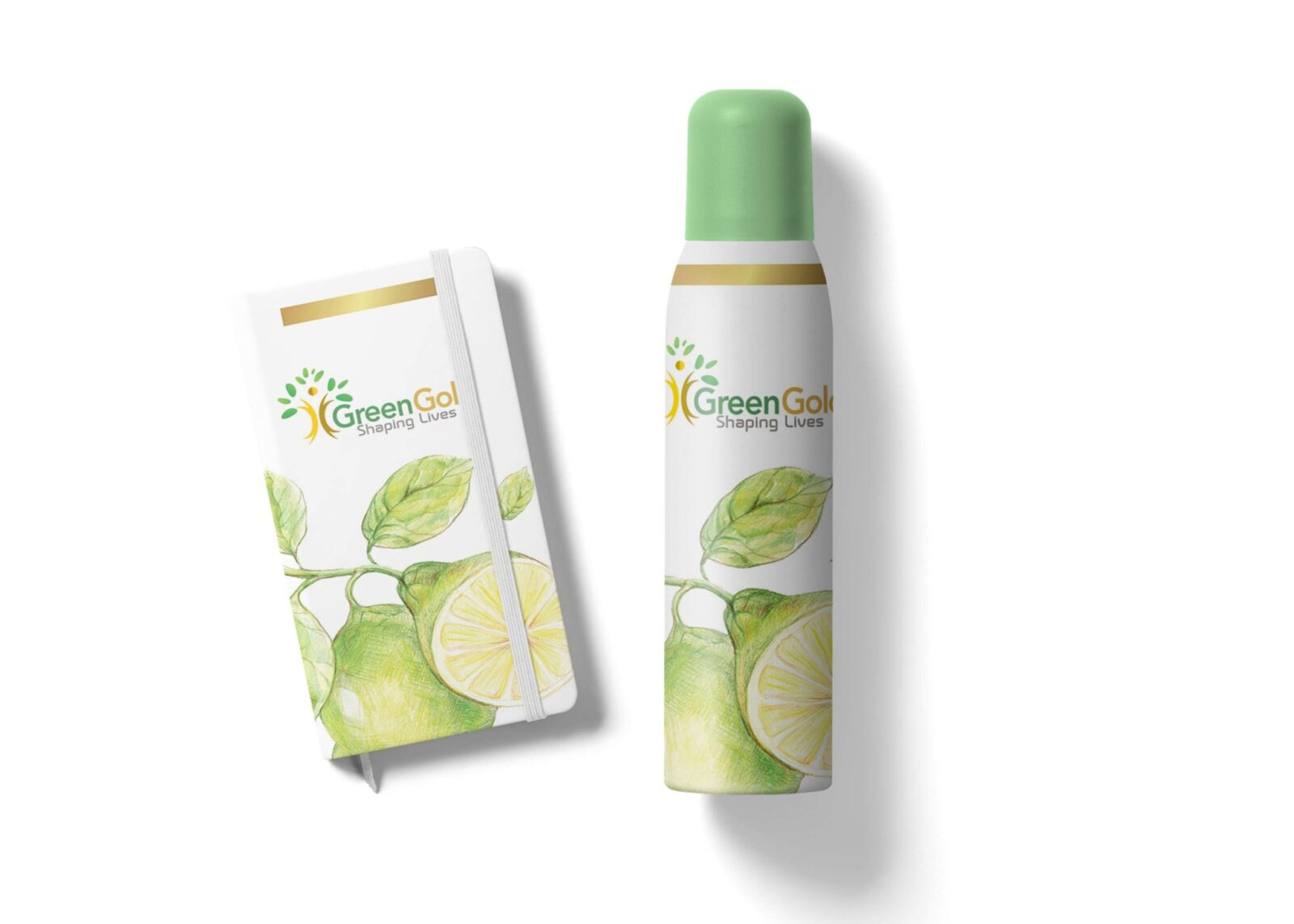 Greengold Deodorant Bottle Label Mockup