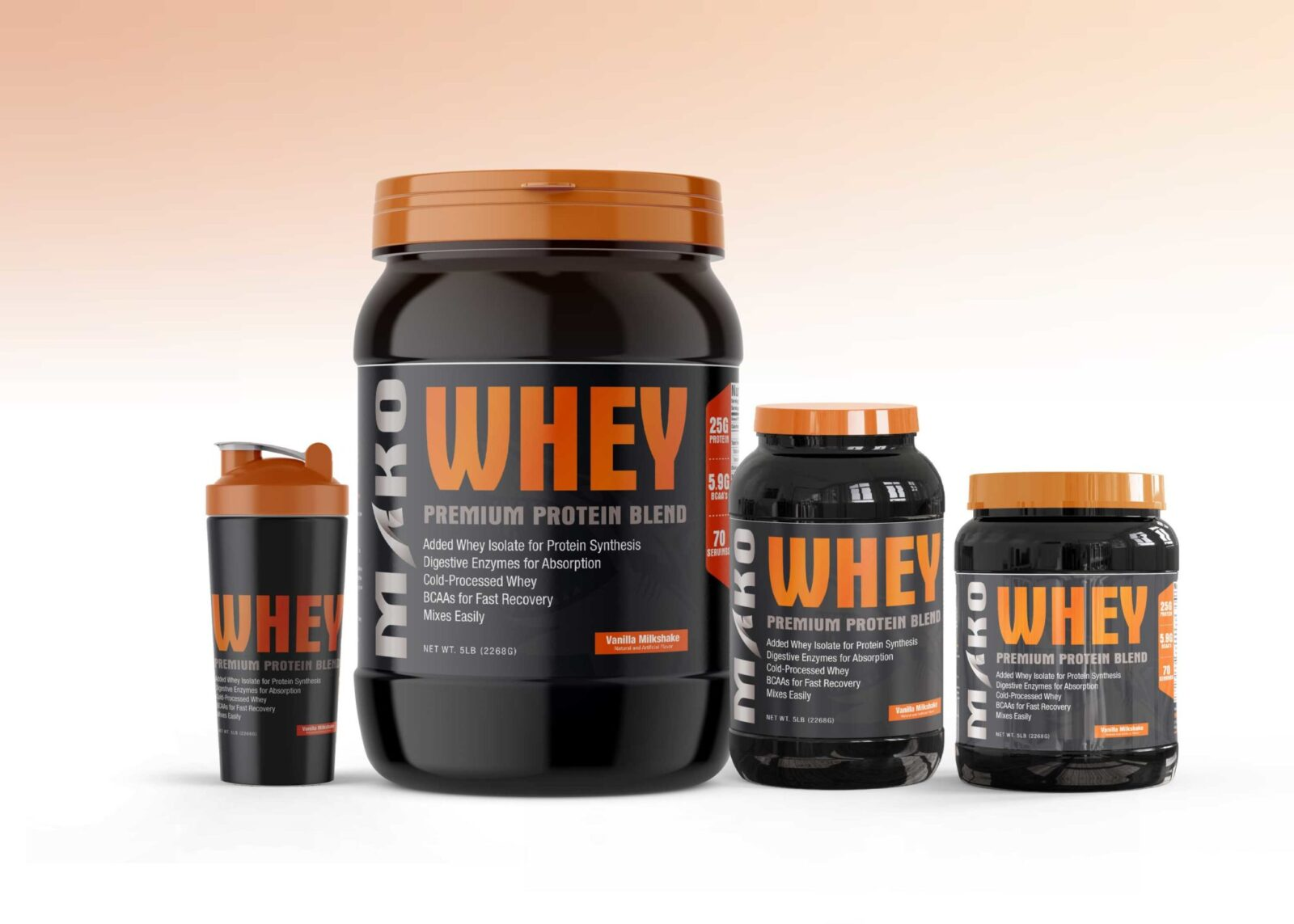 Whey Dietary Supplement Mockup