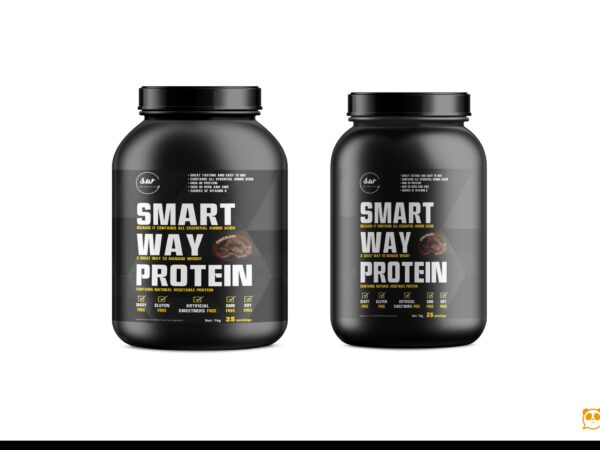 Smart Supplement Bottle Mockup