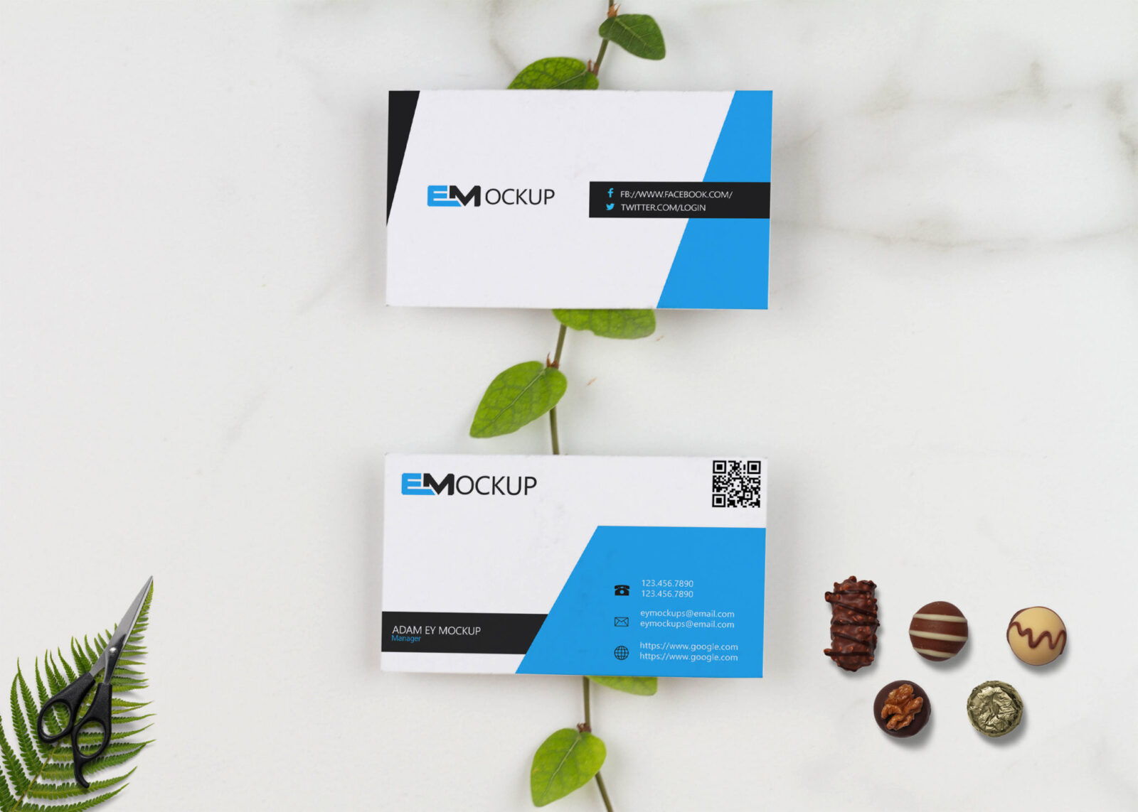 Elegant Design Card Mockup