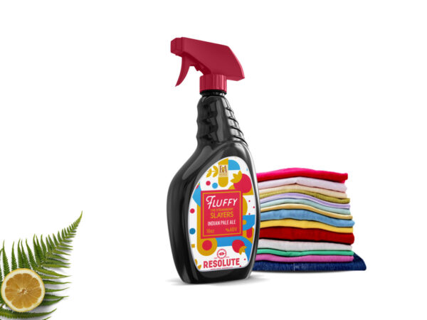 Fluffy Spray Bottle Mockup