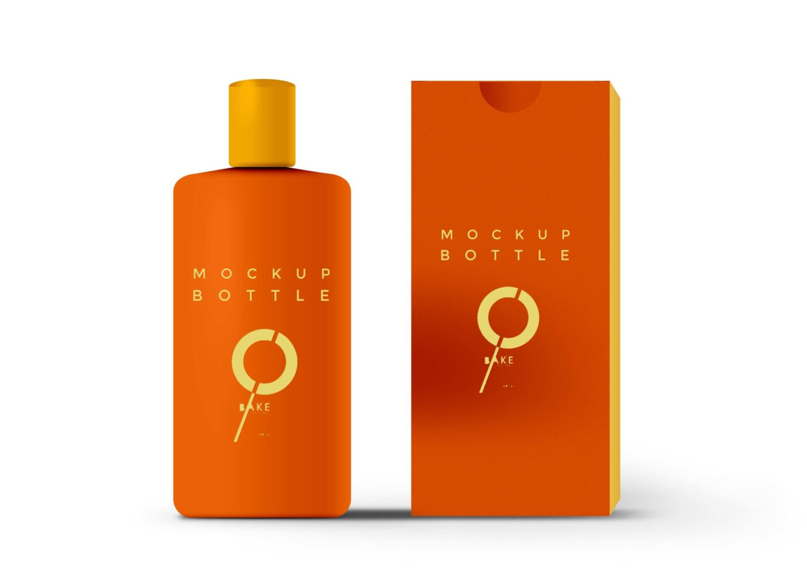 Golden Lotion Bottle Packaging Mockup