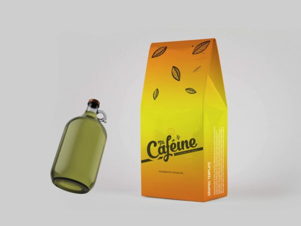 Cafeine Product Bag Mockup