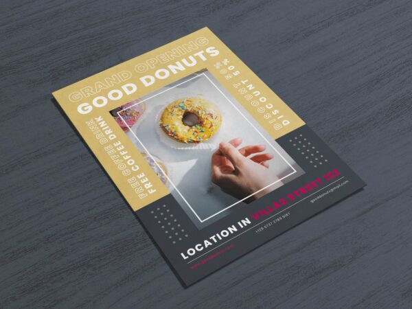 Donut Promotion flyer