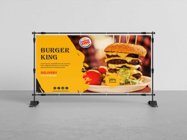 Burger Food Flyer Banner Design Template